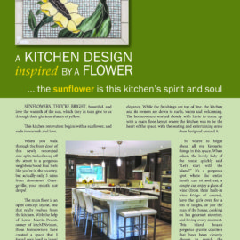A Kitchen Design Inspired by a Flower